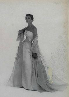 1953 - Christian Dior  / inspiration for Celeste Mortinné's wardrobe @ the last canvas online novel