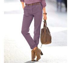 Chino kalhoty | blancheporte.cz #blancheporte #blancheporteCZ #blancheporte_cz #novakolekce #zima Khaki Pants, Fashion, Khakis, Fashion Styles, Khaki Shorts, Fashion Illustrations, Trendy Fashion, Trousers, Moda