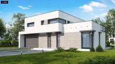 eVilla® ontwerpt en bouwt moderne energieneutrale woningen. Het getoonde project is ontwerpen door Z500, op de website vindt u meer mooie ontwerpen. Bungalow, 2 Storey House, Home Fashion, Garage Doors, Villa, Mansions, House Styles, Outdoor Decor, Design