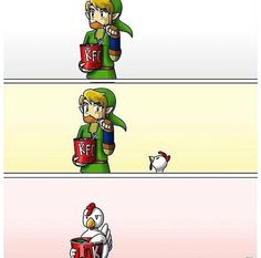 @KFC #Zelda flavors