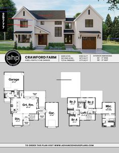 Modern Farmhouse w/ Separate Garages 2 Story Modern Farmhouse Plan | Crawford Farm  2 Story Modern Farmhouse Plan | Crawford Farm     #houseplans #floorplan #homeplan #architecturaldesigner #homesweethome #dreamhome #modernfarmhouse #uniquehome #homedesign #exteriorhomedesign #curbappeal #designbuild #readytobuild