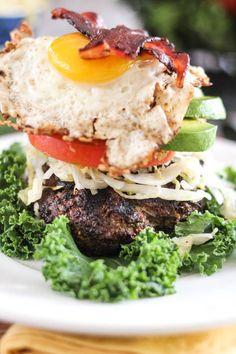 MILE HIGH POWER BREAKFAST BURGER #paleo #diet #recipes #food paleoaholic.com