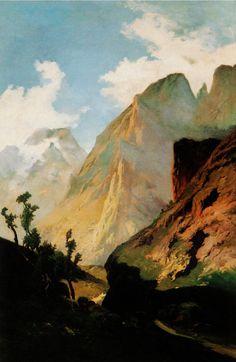 """Ovidio Murguía - Copia de """"Os Picos de Europa"""" de Carlos de Haes; 1898."""
