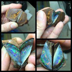 Progress pics - Opal Minerals And Gemstones, Crystals Minerals, Gem Stones, Stones And Crystals, Opal Jewelry, Stone Jewelry, Arrow Head, Raw Opal, Half