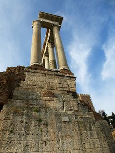 Rome, Italy The Forum ~ Temple of Saturn