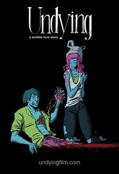 Zombies-in-Love artwork, for Undying: A Zombie Love Story.