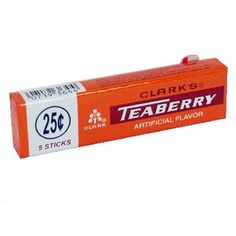 Teaberry Gum - 5 stick pack by Clark Gum in 1970's Candy | 1950's Candy, 1960's Candy, 1970's Candy at Hometown Favorites Retro and Nostalgic Candy - Hometown Favorites  Wow had forgotten it