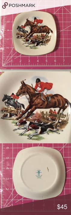 Equestrian horse crown staffordshire Englandsaucer Equestrian horse crown staffordshire made in England saucer EST 1801.  Check out my closet, we have a lot of Victoria Secret, Bath and Body Works, handbags, Aerosoles, shoes, fashion jewelry, women's clothing, Beauty products, home decors & more... We offer bundle discounts. And don't forget your FREE GIFT with every purchase!!! Thank you & Happy Poshing!!! Other