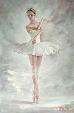 Ballerina Photography, Fantasy Photography, Ballerina Painting, White Tutu, Quotes About Photography, Dance Art, Photo Colour, Oil Painting On Canvas, Illustration