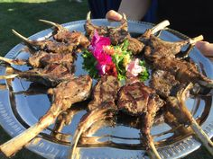 Lamb chops served at Bill and Joe's wedding at The View Point Hotel in York, Maine. Photo credit Salty Girl and The Long Dog. http://www.saltygirlandthelongdog.com