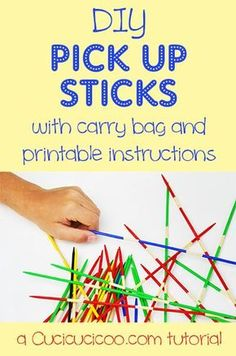 How to make pick up sticks. This old fashion game is so fun to play. Get this DIY and download the play rules