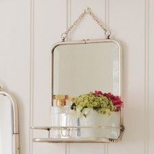 Carriage Mirror with Shelf