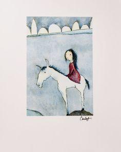 Print Fairy Tale Rider Simple by carlasonheim on Etsy