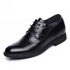 2016 tide height dress shoes gain tall 6.5cm / 2.56inch black lace up formal elevator derbies