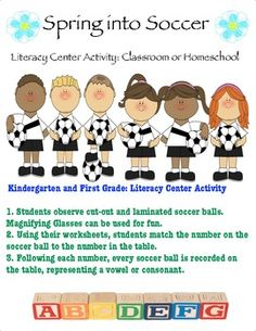 Literacy Center:   Spring Into Soccer Activity