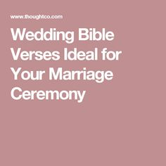 20 Meaningful Bible Verses For Your Christian Wedding
