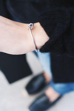 Céline knot bracelet. Via Mija