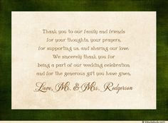 Wedding Thank You Wording Graduation Card Verses Quotes And Sayings In Memory Of Pinterest Printable