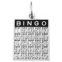 Bingo Charm $34.50 http://www.charmnjewelry.com/category/sterling_silver/Luck_Gambling_and_Symbols.htm #CharmnJewelry