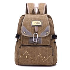Men Vintage Canvas Backpack Durable Jungle Outdoor Shoulder Backpack  Worldwide delivery. Original best quality product for 70% of it's real price. Hurry up, buying it is extra profitable, because we have good production sources. 1 day products dispatch from warehouse. Fast & reliable...