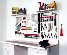 This simple workbench doubles as a storage rack for those long pieces of lumber and plywood that tend to clutter your workshop. Description from pinterest.com. I searched for this on bing.com/images