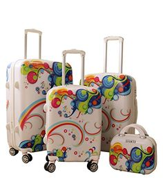 Zota Luggage 4 Piece Traveler Hardside Spinner TAS Locks With Free luggage Cover -- Visit the image link more details.