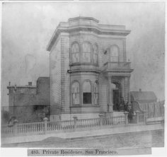 A lovely private residence in San Francisco in Photo: Library Of Congress/Courtesy San Francisco Earthquake, Narrow House, Modern City, Library Of Congress, Bay Area, Taj Mahal, Past, Spanish, Explore