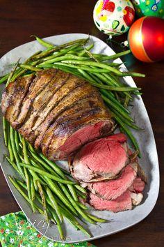 Crock-Pot Bacon Wrapped Beef Tenderloin with Balsamic Glaze  W0W! #HolidayEntertaining #HuffPostTaste