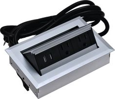Hide-A-Dock Power/Data Station, 2 AC Outlets, 2 USB Ports