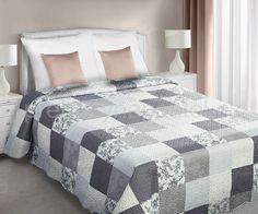 Bílý oboustranný vintage přehoz na postel