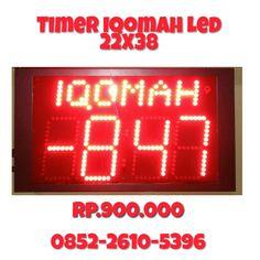 Jam Digital Iqomah Led   http://pusatjamsholat.com/  pemesanan 0852-2610-5396