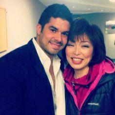 Jerry junto a Nora de La Orquesta de La Luz