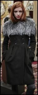 Retro Sixties Fur Shoulder Collar Coat.