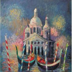 Venice Carnival, oil on canvas, 50 x 50 cm, by Todor  Ignatov - Tony  http://buyart.tonyignatov.eu/