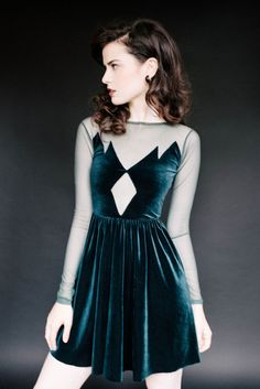 """Your Inner '90s Pop Culture Obsessive; """"Welcome to Twin Peaks"""" skater dress"""