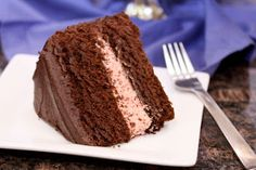 Double Chocolate Cake with Strawberry Buttercream Filling Recipe!