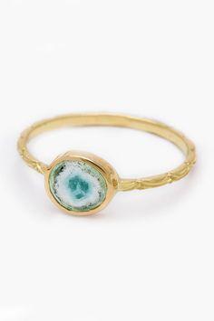 30 Dream Engagement Rings For The Anti-Diamond Girl #refinery29  http://www.refinery29.com/engagement-rings-diamond-alternatives#slide5