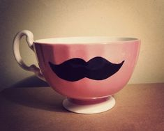 pink mustache teacup1 Etsy find: 10 pretty pink things