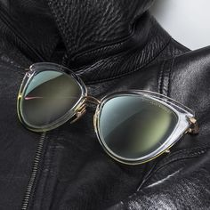 The newest addition to the Heartbreaker collection featuring a grey to clear lens with a milky gold flash mirror. #DITAeyewear