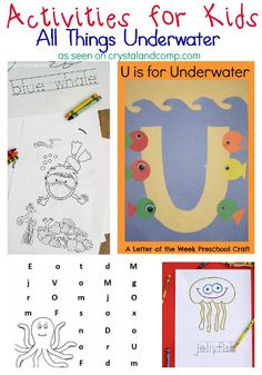 Activities for Kids: All Things Underwater   3 Dinosaurs