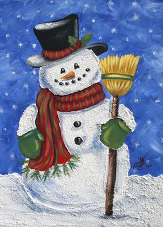 Good Absolutely Free Snowman painting acrylic Popular It's not easy to withstand incorporating any snowman painting undertaking directly into a form of Snowmen Paintings, Christmas Paintings On Canvas, Christmas Canvas, Snowman Decorations, Snowman Crafts, Xmas Crafts, Watercolor Christmas Cards, Christmas Drawing, Snowmen Pictures