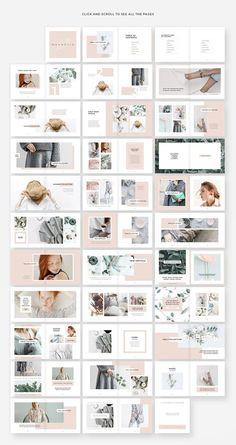 Magnolia Lookbook Template by Studio Sumac on @creativemarket