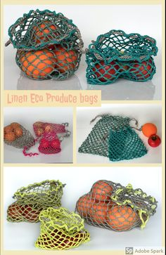 "This produce bags is in the line ""Plastic Free"". No more plastic bags! This bags is from Natural Ecological Lithuanian Linen! I love this bags! Baby Overall, Net Bag, Produce Bags, Crochet Kitchen, Best Wear, Market Bag, Reusable Bags, Yarn Colors, Natural Linen"