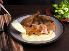 Roasted Chicken With Classic or Curry Soubise (Onion Sauce) Recipe | Serious Eats