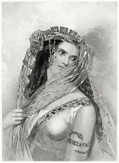 Cleopatra.  from The heroines of Shakespeare, by Charles Heath, Boston, 1850.