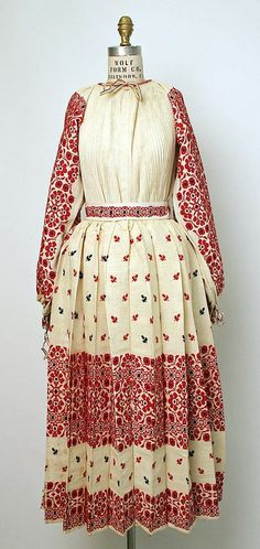 A Croatian folk dress looks almost exactly like thecone I wear for our mct concert this year Vintage Dresses, Vintage Outfits, Vintage Fashion, Historical Costume, Historical Clothing, European Dress, Folk Clothing, Ethnic Dress, Embroidery Fashion