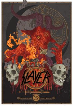 Slayer poster by Vance Kelly