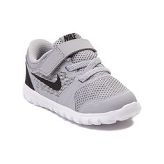 Toddler Nike Flex Run Athletic Shoe, Gray