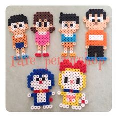 Nobita, doraemon, perler beads,hama beads, bead spries, nabbi fuse melty beads. Hello Check my Cartoon and Animation Blog Thank you so much ! http://cartoon71.blogspot.com/