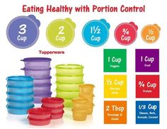 Tupperware's Portion control containers